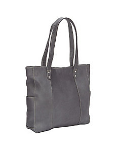 Double Strap Rivet Tote by Le Donne Leather