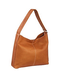 Shoulder Tote with Side Zip Pocket by Le Donne Leather