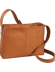 Top Zip Crossbody Bag by Le Donne Leather