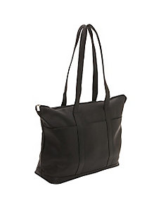 Double Strap Large Pocket Tote by Le Donne Leather