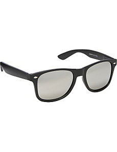 Wayfarer Sunglasses Solid Black with Mirror Reflec by SW Global Sunglasses