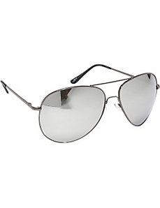 Fashion Oversized Aviator Sunglasses Mirror Reflec by SW Global Sunglasses