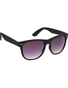 Wayfarer Sunglasses Black Special Rubber Touch Fin by SW Global Sunglasses