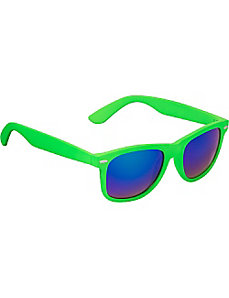 Wayfarer Fashion Sunglasses in Colored Mirror Lens by SW Global Sunglasses