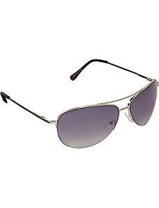 Pilot Fashion Aviator Sunglasses in Semi-Rimless D by SW Global Sunglasses