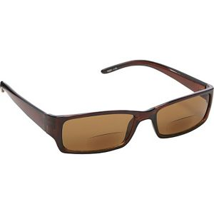 Rectangle Fashion Sunglasses Brown with Vision Pow