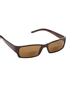 Rectangle Fashion Sunglasses Brown with Vision Pow by SW Global Sunglasses