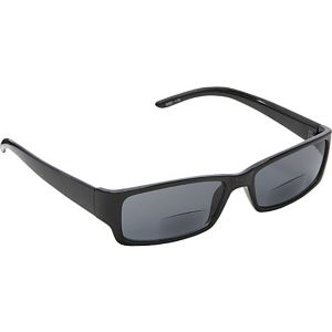 Rectangle Fashion Sunglasses Black with Vision Pow