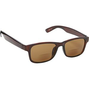 Square Fashion Sunglasses Brown with Vision Power