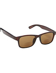 Square Fashion Sunglasses Brown with Vision Power by SW Global Sunglasses
