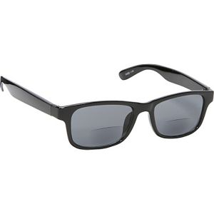 Square Fashion Sunglasses Black with Vision Power