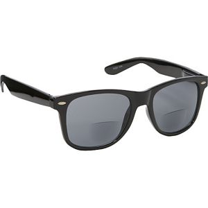 Wayfarer Fashion Sunglasses Black with Vision Powe