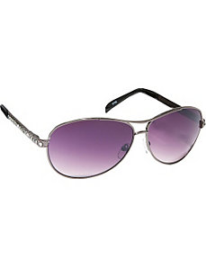 Stunning Pilot Aviator Sunglasses in Crystal Rhine by SW Global Sunglasses