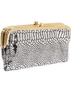 Python Gloria Clutch w/ Vanity Mirror by AmeriLeather