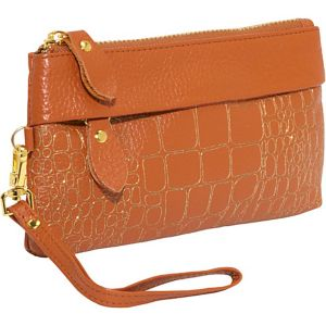 Sparks Leather Clutch Wristlet