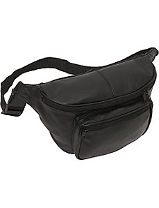 Jumbo Size Leather Fanny Pack by AmeriLeather