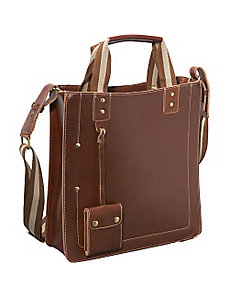 Legacy Leather Magazine Tote by AmeriLeather