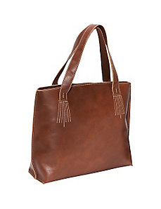 Boxy Leather Tote by AmeriLeather