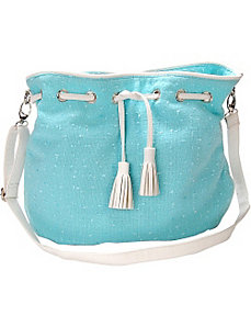 Fresh Air Novelty Fabric Crossbody Handbag by Flying Daisies
