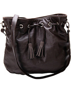 Chestnut Faux Leather Crossbody Handbag by Flying Daisies