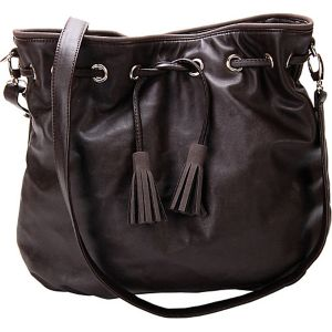 Chestnut Faux Leather Crossbody Handbag