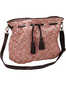 Starfish Novetly Fabric Crossbody Handbag by Flying Daisies