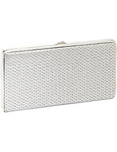 We Mesh Together Silver Wallet/Clutch by Vizzini Inc.