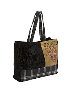 Velvet Bag With Sequin & Glass Beads by Moyna Handbags