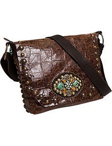 Gemstone Messenger Bag by Leatherock