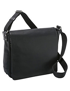 SOHO Collection Slim Leather Messenger Bag by Jack Georges