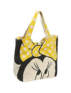 Minnie Mouse Yellow Bow Tote by Loungefly