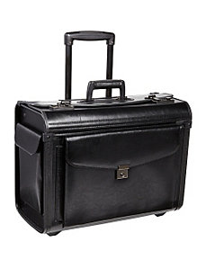Bonded Leather Catalogue Case On Wheels by McBrine Luggage