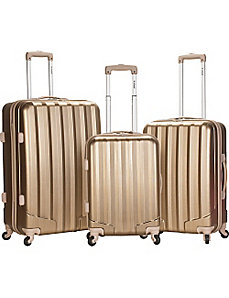 Metallic 3 Piece Hardside Spinner Set by Rockland Luggage