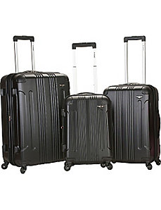 Sonic 3 Piece Hardside Spinner Set by Rockland Luggage