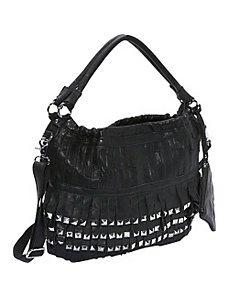 Studded Tutu Leather Hobo by AmeriLeather