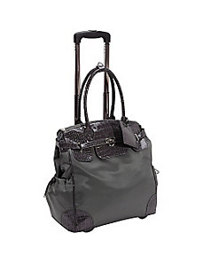 Deluxe Skylar Women's Rolling Laptop Tote by AmeriLeather