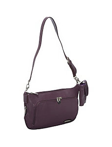 Leather East/West Shoulder Bag by Travelon