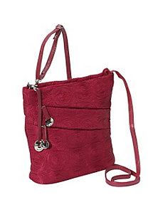 Embroidered Shoulder Bag by Travelon