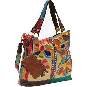 Rosalie Canvas/Leather Tote
