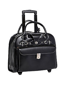 Edgebrook Wheeled Ladies' 15in. Laptop Case by McKlein USA
