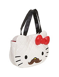 Hello Kitty Quilted Mustache Face Bag by Loungefly