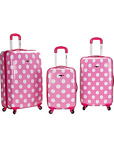 Laguna Beach 3 Piece Hardside Spinner Set by Rockland Luggage