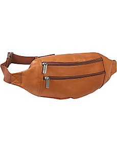 Dual Zip Pocket Waist Bag by Le Donne Leather