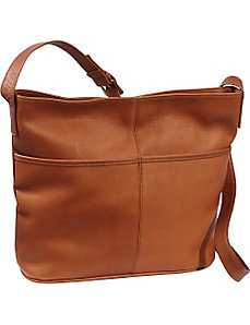 Two Slip Pocket Hobo by Le Donne Leather