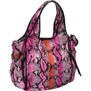 Carmine Coated Fabric Tie Tote