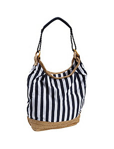 Striped Canvas Bag by Earth Axxessories