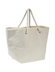 Jute and Cotton Natural Tote by Earth Axxessories