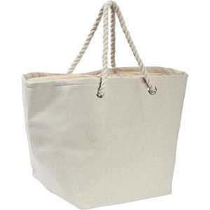 Jute and Cotton Natural Tote