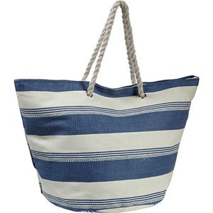 Striped Straw Tote