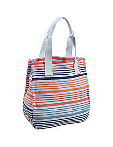 Striped Canvas Tote by Earth Axxessories